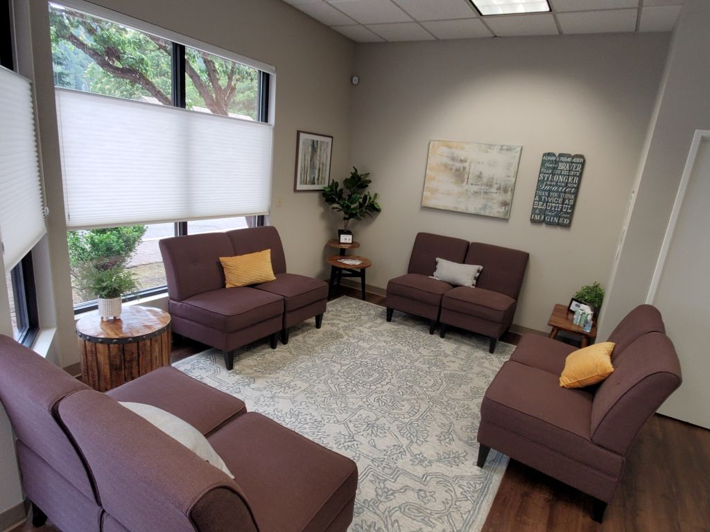 Waiting room at Hope Clinic with comfortable seating